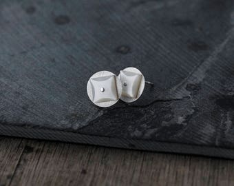Star Studded Mother of Pearl Silver studs