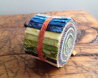 Anthology Batik Fabric Rollups, Strips, Jelly Roll, BA212-168