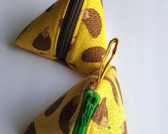 Yellow Hedgehog Pyramid Pouch