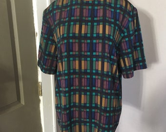 Vintage Worthington blouse, stained glass pattern