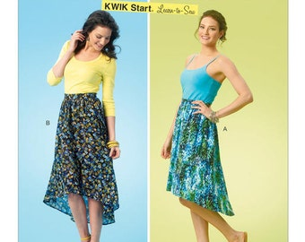 Kwik Sew 4061, Misses Skirts Sewing Pattern, New Uncut, Learn-to-Sew Pattern,  If you want to learn to sew, this is great, size XS-S-M-L-Xl