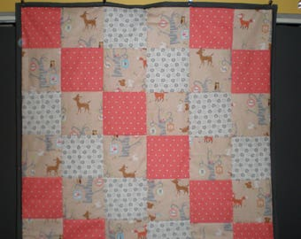 Baby Forest Animals Themed Patchwork Quilt