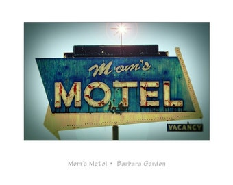 Mamans Motel - 16 x 20 Vintage Road Sign tirage photographique