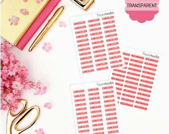TRANSPARENT canceled/rescheduled stickers