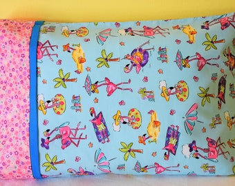 Flamingos  TRAVEL SIZE PILLOWCASE