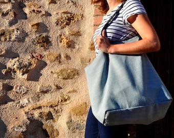 Linen Bag, Boho Bag, Beach Bag, Casual Tote Bag, Day Bag, Summer Tote, Hobo Tote, Linen Tote Bag, Linen Shoulder bag, boho
