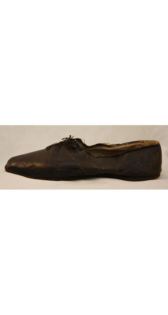 Up Hand 34525 Lace Footwear Leather Sewn Antique Authentic Victorian 1800s Early Shoes 1830s Rare Black All Shoes aUqx1Iw6