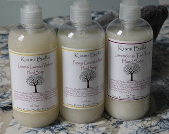Soap Dispencer- Home and Garden, Lemon Lavender Verbena Hand Soap/Gluten Free Soap/ Moisturizing/Nourishing/Bath and Beauty, Housewarming