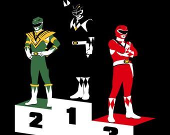 Black Ranger Power -  Men's Unisex T-Shirt - Sci-Fi Geek Parody Clothing