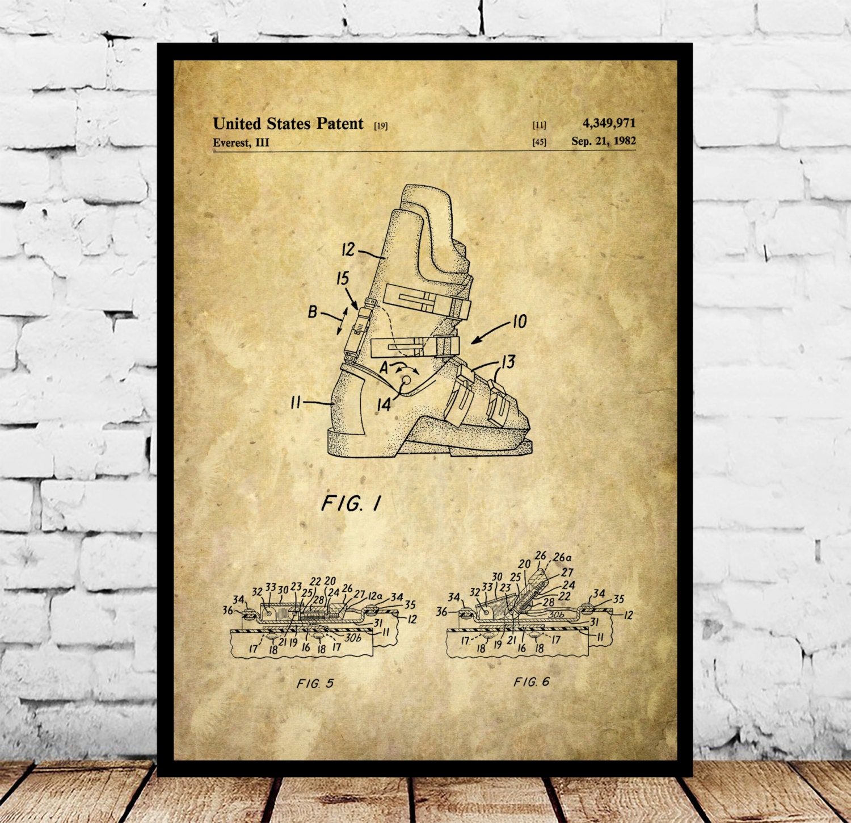 Ski boots patent ski boots poster ski boots blueprint zoom malvernweather Image collections
