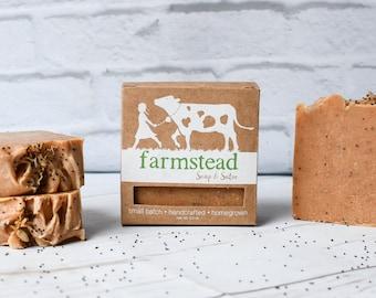 Apricot Scrub // Exfoliating Soap, Natural Soap, Jersey Milk Soap, Cold Process Soap, Farm Soap, Handcrafted Soap