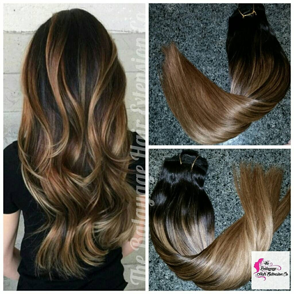 Dark Brown Hair Extensions Balayage Halo Hair Extensions