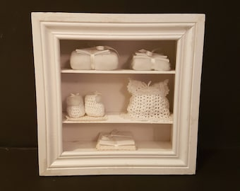 Stunning diorama or Shadowbox in wooden frame