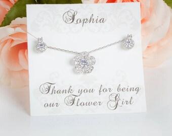 Flower Girl Gift | Flower Girl Necklace | Flower Girl Earrings | Would you be my flower girl | Flower Girl Jewelry