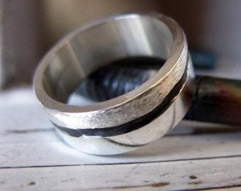 Mens Wedding Band Silver Man Wedding Band Mens Wedding Ring Unique Mens Wedding Band Rustic Man Wedding Ring Viking Wedding Ring Silver Band