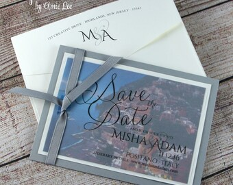 Save The Date, Italian Wedding, photo save the date