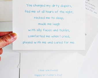 Sweet 1st Father's Day Card From Baby / Baby's Point Of View / Humor / Charitable Donation