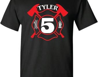 Firefighter Birthday Shirt