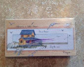 Rubber stamp block