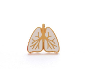 Lungs Enamel Pin Badge, Mindfulness Pin Badge, White Lungs Pin, Hard Enamel Pin, Pins, Pin Game, Lungs Brooch