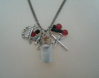 Vampire Necklace, gothic jewelry goth jewelry vampire jewelry halloween jewelry steampunk fantasy cosplay necklace