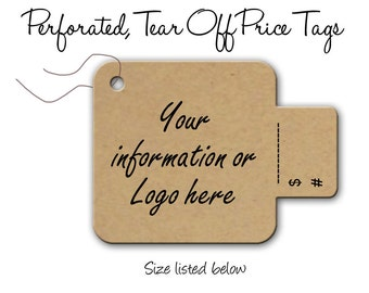 Price Tags,  Perforated Price Tags,  Labels, Tear Off Tags, Mercahndise labels, Price Tags 1.5 inch, Clothing Tags, Product Tags