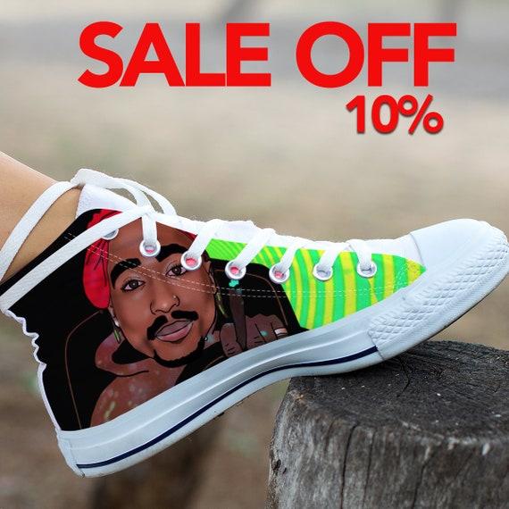 Tupac Converse Shoes Shakur Tupac Shoes Top Art Custom Converse Custom High Custom Shakur Rap Shakur Tupac Tupac 2pac Custom Sneaker 6wRv15qR