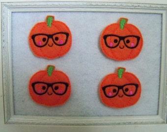 Geeky Pumpkin Feltie, Always Precut Glasses Pumpkin