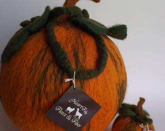 """13"""" Felted Pumpkin"""