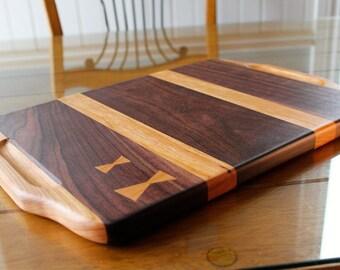 Black walnut and cherry cutting board