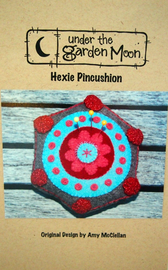 Hexie Pincushion By Amy Mcclellan And Under The Garden Moon