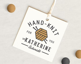 Knitting tags, Gift for Knitter, Personalized Knitting Tag, Knitting hang tags, Knitting supplies, Gifts for Knitters, Garment tags,  24 set