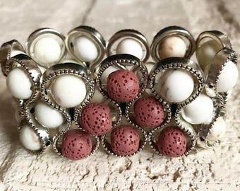 READY TO SHIP * Aromatherapy bracelet * Womens Bracelet * Oil Diffuser Bracelet * Essential Oil Bracelet * Stretch Bracelet * Lava Stone