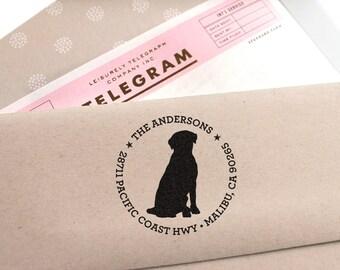 Custom Address Stamp - Labrador Retriever Return Address Stamp, customized gift for holidays, housewarming and weddings, school