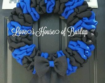 LEO wreath, Blue line wreath, Law Enforcement wreath, Police wreath, Police support, Police Officer
