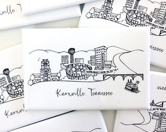 Knoxville, Tennessee Skyline Magnets