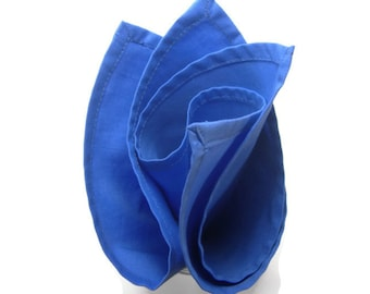 Periwinkle  cotton pocket square