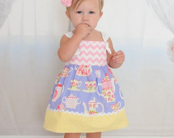 IN STOCK: Tea Party Baby Girls Dress