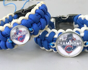 Chicago Cubs Championship Paracord Bracelet, Or your team on request