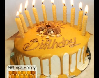 100% Natural pure Australian beeswax birthday candles
