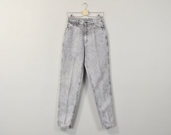 Acid Wash Jeans, Vintage 90s Mom Jeans, High Waisted Jeans, High Rise Jeans, Tapered Leg Jeans, Womens LEE Jeans Size 8 / 10