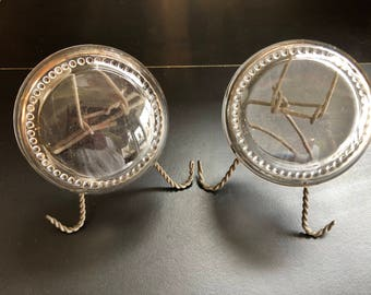 Victorian Magnifying Paperweights on Stands