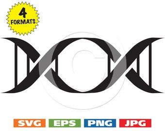 DNA Symbol Frame - svg cutting files PLUS eps/vector, jpg, png - 300dpi