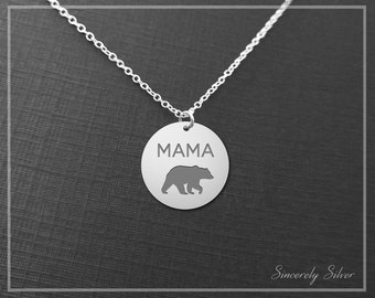 New Mom Necklace, Bear Necklace, Mama Bear Necklace, Momma Bear Necklace, Momma Necklace, Bear Jewelry