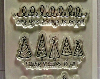 Holiday Blessing Clear Stamps by The Greeting Farm...