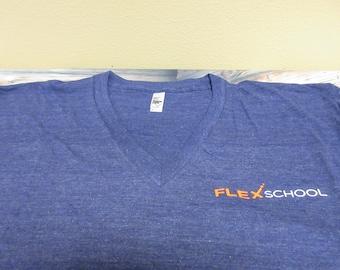 Flexschool - American Apparel V Neck Triblend T-shirt