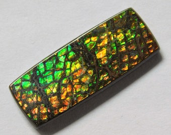30X12X3.4 Natural Ammolite Cabochon Loose Gemstone