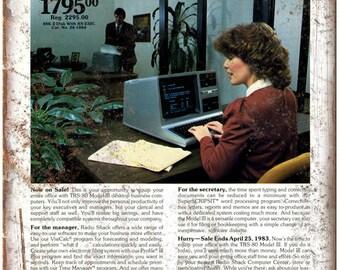 "Radio Shack TRS 80 Model III 3 Computer System 10""x7"" Retro Look Metal Sign D61"