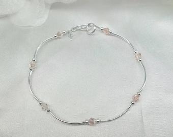 Pink Cross Ankle Bracelet Cross Anklet Pink Ankle Bracelet Pink Anklet Crystal Anklet Sterling Silver Anklet Valentine Gift Buy3+1Free