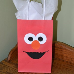 Elmo Inspired Party Favor Gift Bag - Set of 6 - Birthday Party